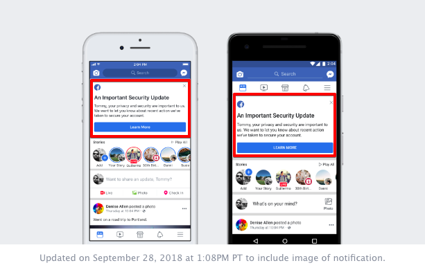 Facebook セキュリティアップデート引用
